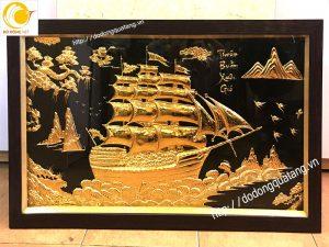 Các mẫu tranh thuận buồm xuôi gió bằng đồng,mạ vàng quà tặng
