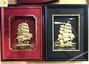 Qùa lưu niệm tranh thuận buồm bằng vàng lá 24k cao cấp